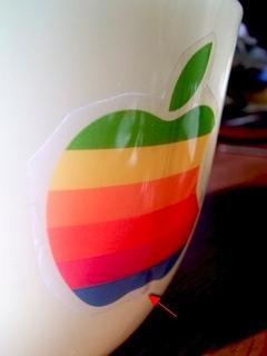 アイボリーのFire Kingに虹色林檎でOld Mac6