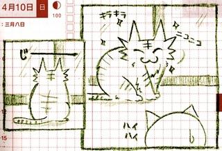 猫ら絵日記『効果テキメン!おねだりのコツ教えるぜ!』