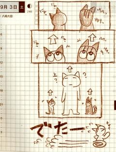 猫ら絵日記『ねこがいると発見が早くて助かります。』