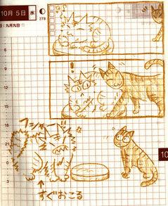 猫ら絵日記『おこるオニイサン』
