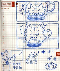 猫ら絵日記『グルメ猫でも歯肉炎でもなく、腎臓だった話 その6』
