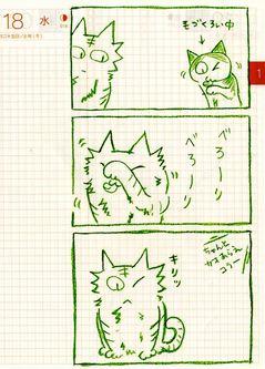 猫ら絵日記『片目のネコかっこいい...!』
