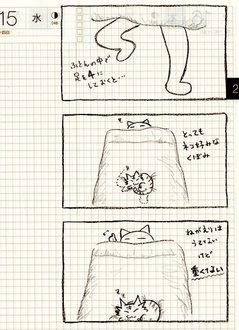 猫ら絵日記『ねことふとんで寝るとき...』