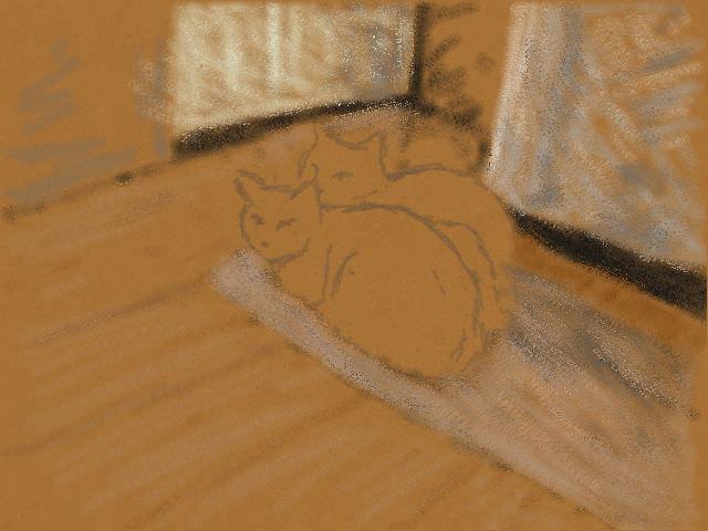 Nintendo 3DS LL_Cat Sketch_20130708.jpg