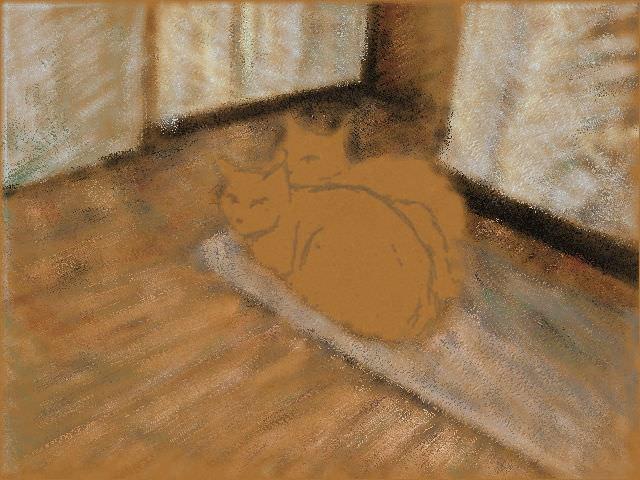 Nintendo 3DS LL_Cat Sketch_20130712.jpg