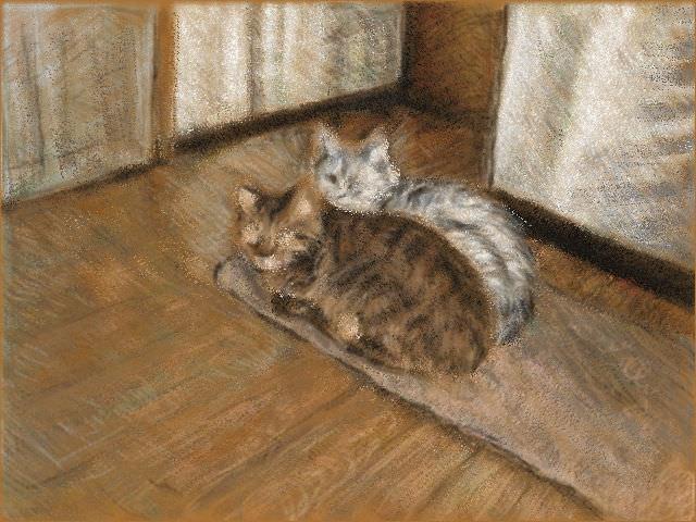 Nintendo 3DS LL_Cat Sketch_20130730.jpg