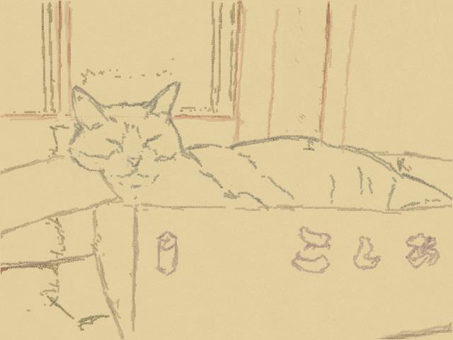 Nintendo 3DS LL_Cat Sketch_20130827.jpg