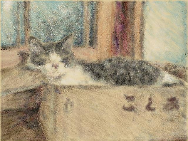 Nintendo 3DS LL_Cat Sketch_20130916.jpg