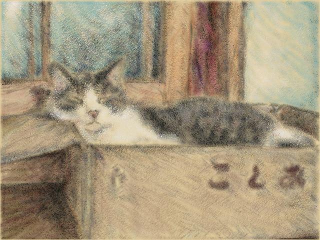 Nintendo 3DS LL_Cat Sketch_20130922.jpg