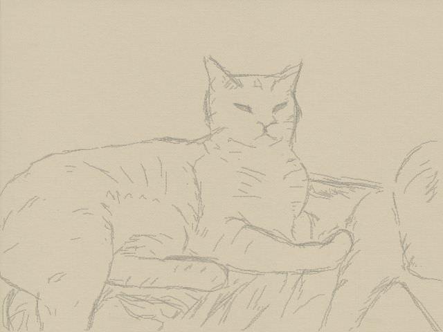 Nintendo 3DS LL_Cat Sketch_20131013.jpg