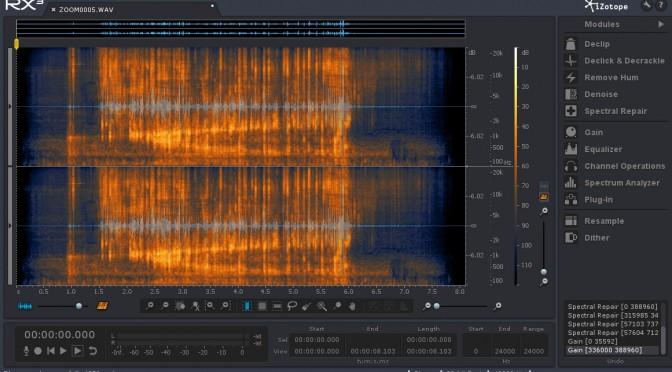 iZotope RX3のオーディオリペア能力をテスト(レビュー)