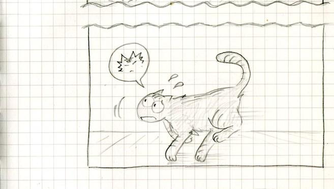 腎不全検診…いっぽうそのころ…(猫ら絵日記)