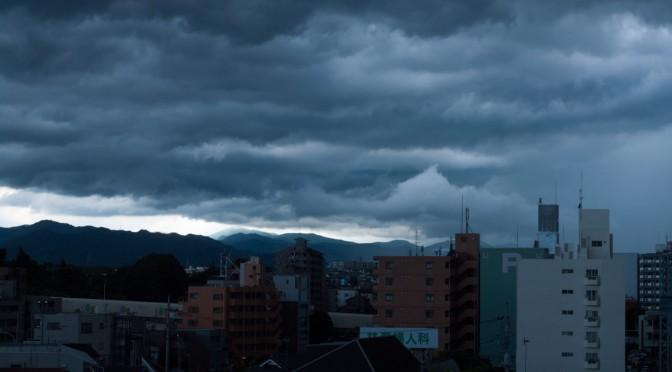 豪雨を降らせたであろう雨雲(K-7+RIKENON 50mmF2)