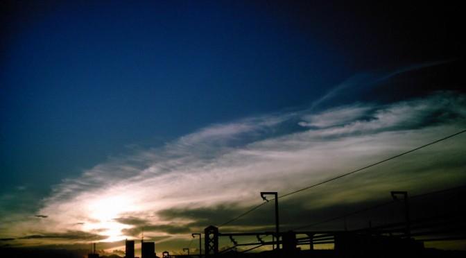 黄金色入りの夕焼け雲(Polaroid a520)