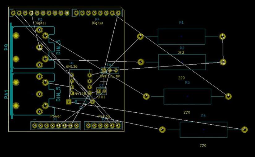 KiCadで設計 MIDI Shield その1