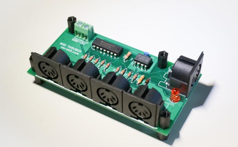 KiCadで初めて作るプリント基板 MIDI THRUBOX 組み立て