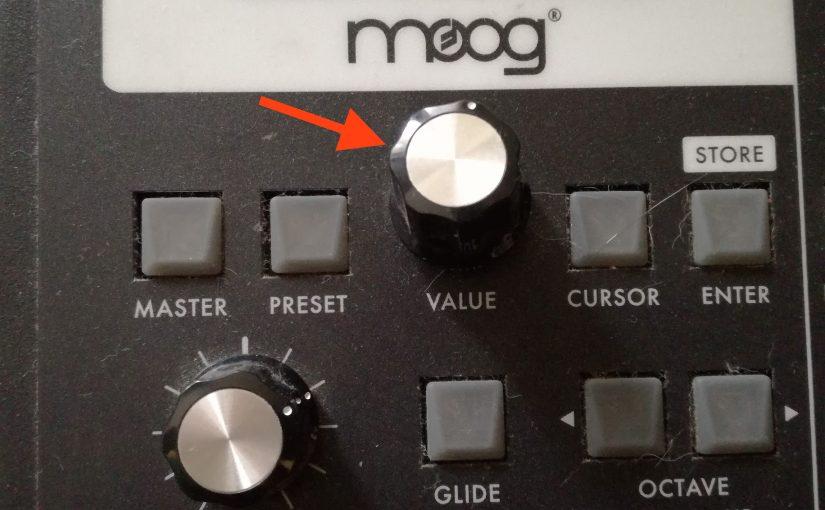 Moog SlimPhattyのツマミ修理