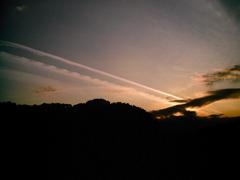 izone 550,雲からビーム