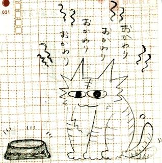 猫ら絵日記『こういう時は目がキラキラしてない』